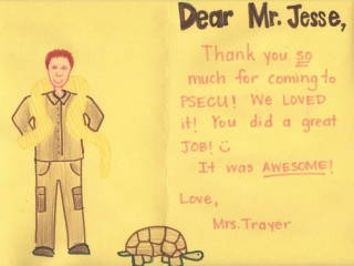 Reptile Thank You Note