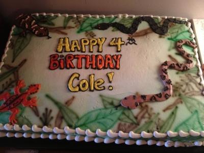 Reptile Birthday Party