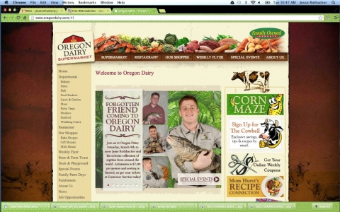 Jesse and the reptiles at Oregon Dairy